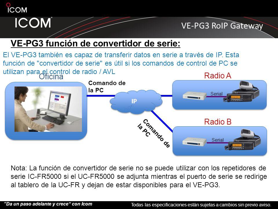 VE-PG3 función de convertidor de serie: