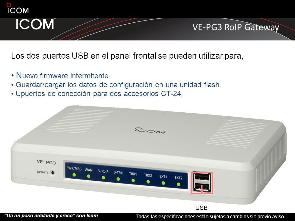 Los dos puertos USB en el panel frontal se pueden utilizar para,