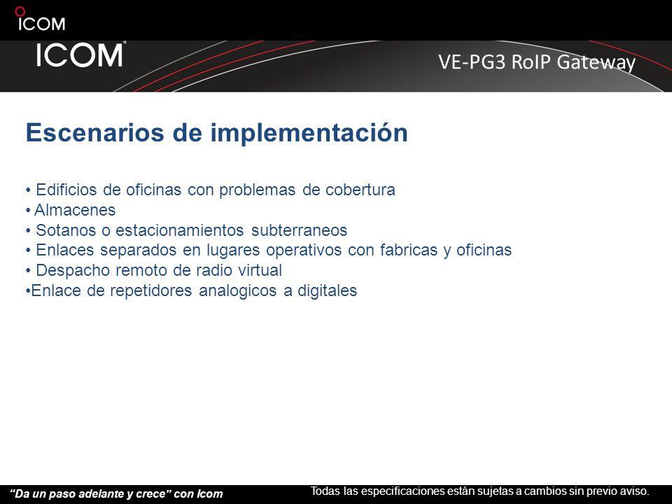 Escenarios de implementación