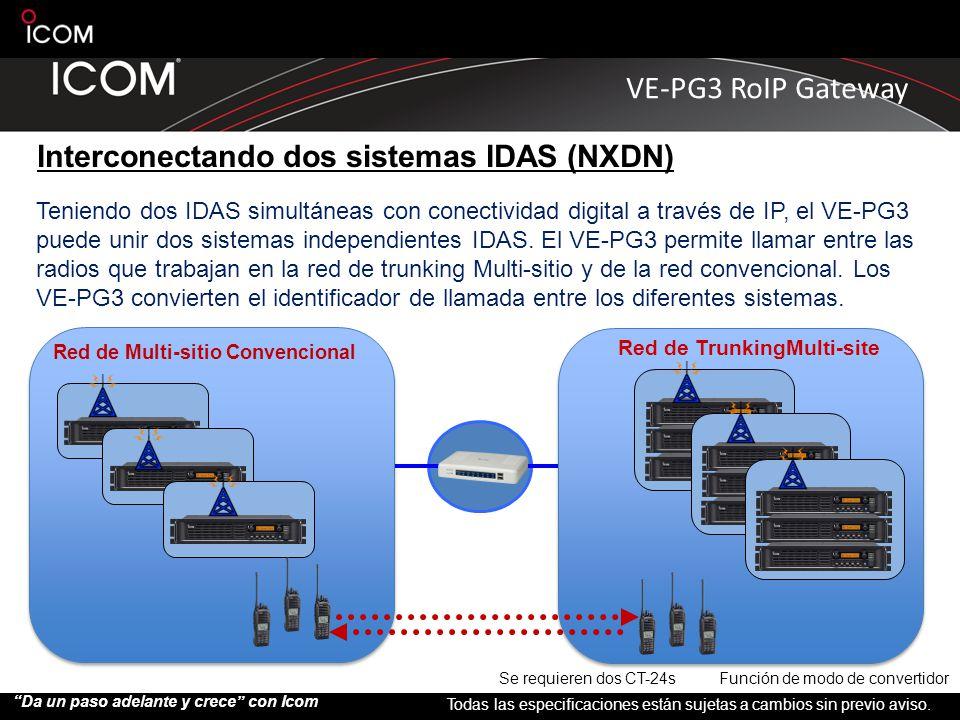 Interconectando dos sistemas IDAS (NXDN)