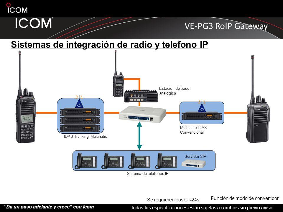 Sistemas de integración de radio y telefono IP