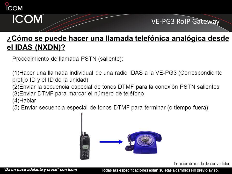 ¿Cómo se puede hacer una llamada telefónica analógica desde el IDAS (NXDN)