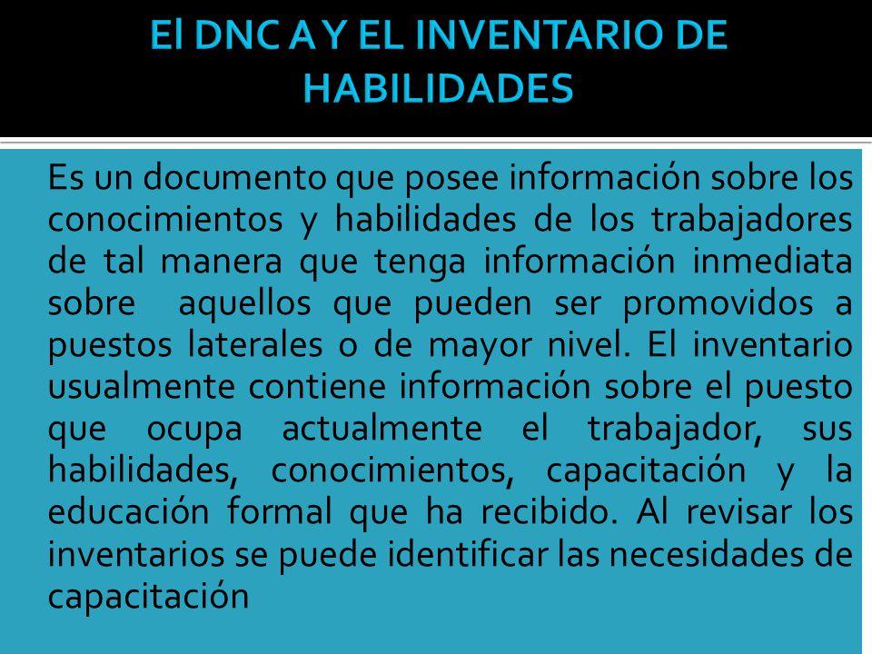 El DNC A Y EL INVENTARIO DE HABILIDADES