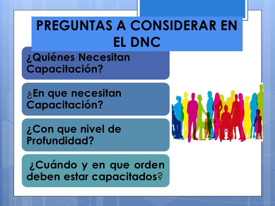 PREGUNTAS A CONSIDERAR EN EL DNC