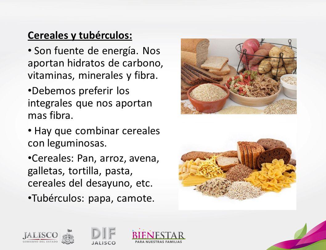 Cereales y tubérculos: