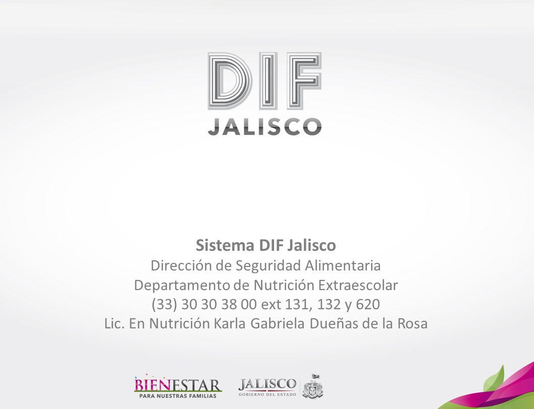 Sistema DIF Jalisco Dirección de Seguridad Alimentaria