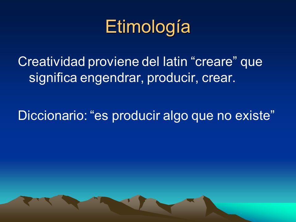 EtimologíaCreatividad proviene del latin creare que significa engendrar, producir, crear.