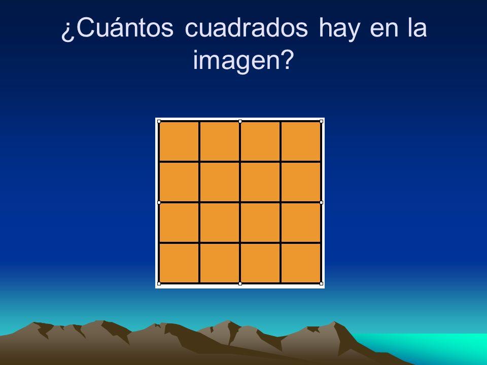 ¿Cuántos cuadrados hay en la imagen