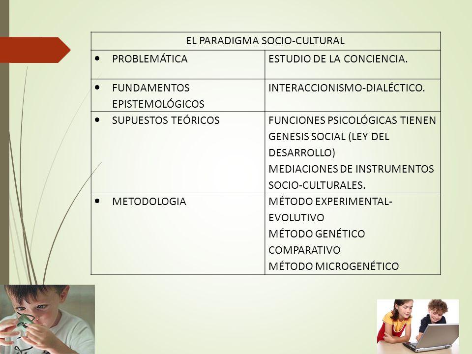 EL PARADIGMA SOCIO-CULTURAL