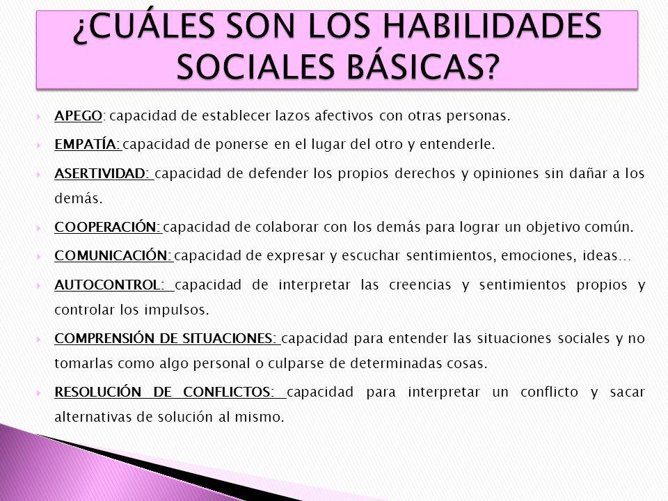 ¿CUÁLES SON LOS HABILIDADES SOCIALES BÁSICAS