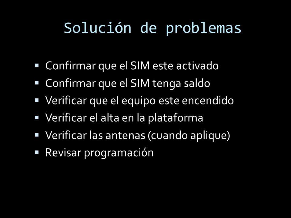 Solución de problemas Confirmar que el SIM este activado
