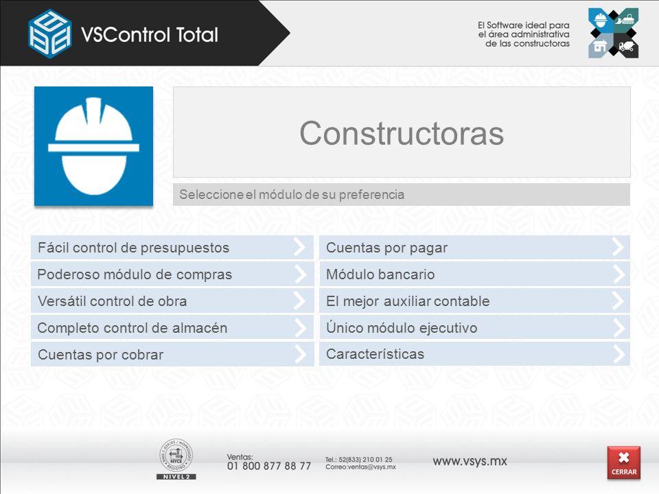 Constructoras Fácil control de presupuestos Cuentas por pagar