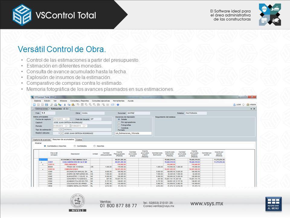 Versátil Control de Obra.