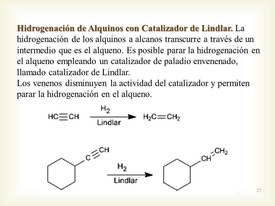Hidrogenación de Alquinos con Catalizador de Lindlar