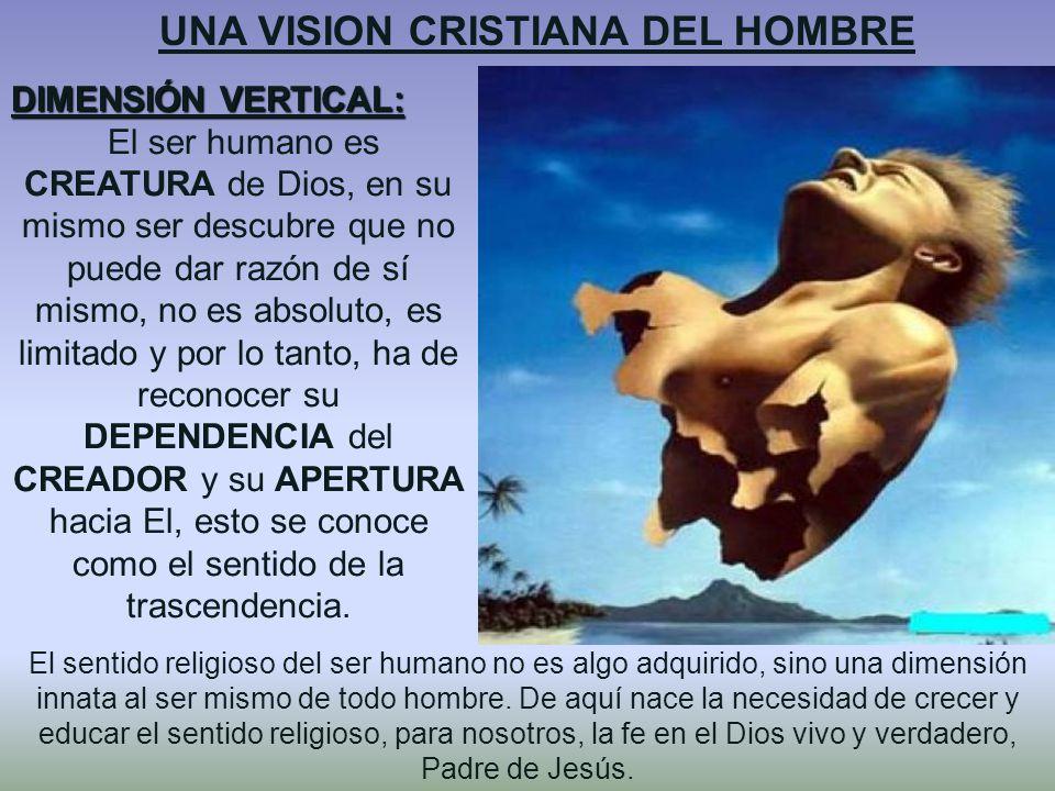 UNA VISION CRISTIANA DEL HOMBRE