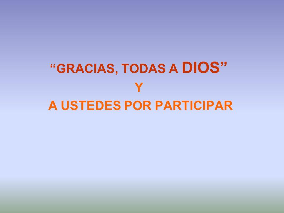 GRACIAS, TODAS A DIOS Y A USTEDES POR PARTICIPAR