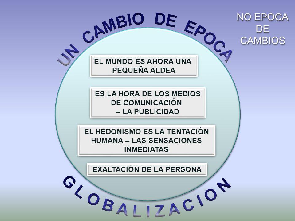 UN CAMBIO DE EPOCA G L O B A L I Z A C I O N