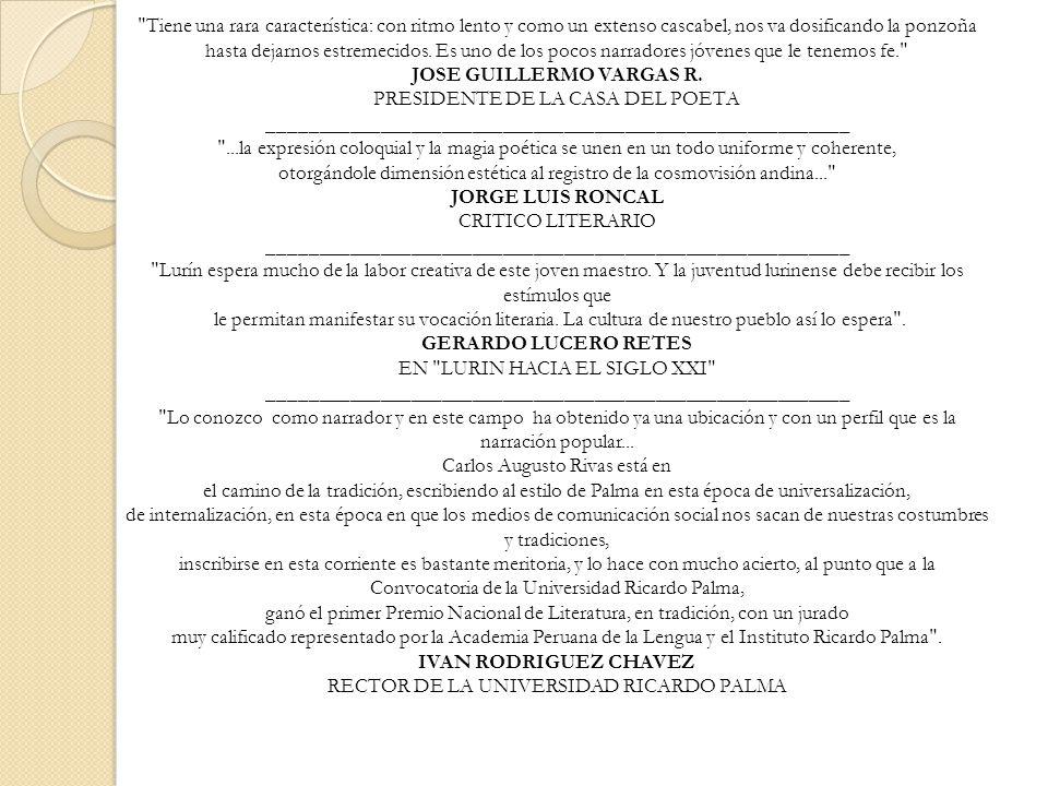 JOSE GUILLERMO VARGAS R. PRESIDENTE DE LA CASA DEL POETA