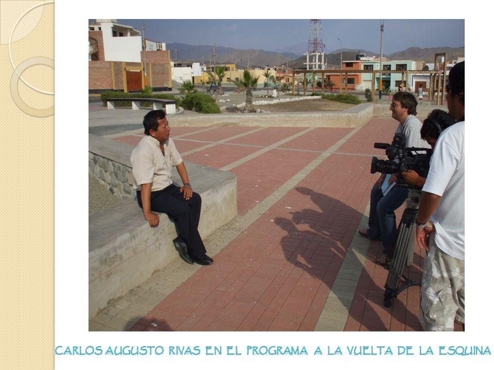 Carlos Augusto Rivas en el Programa a la vuelta de la esquina