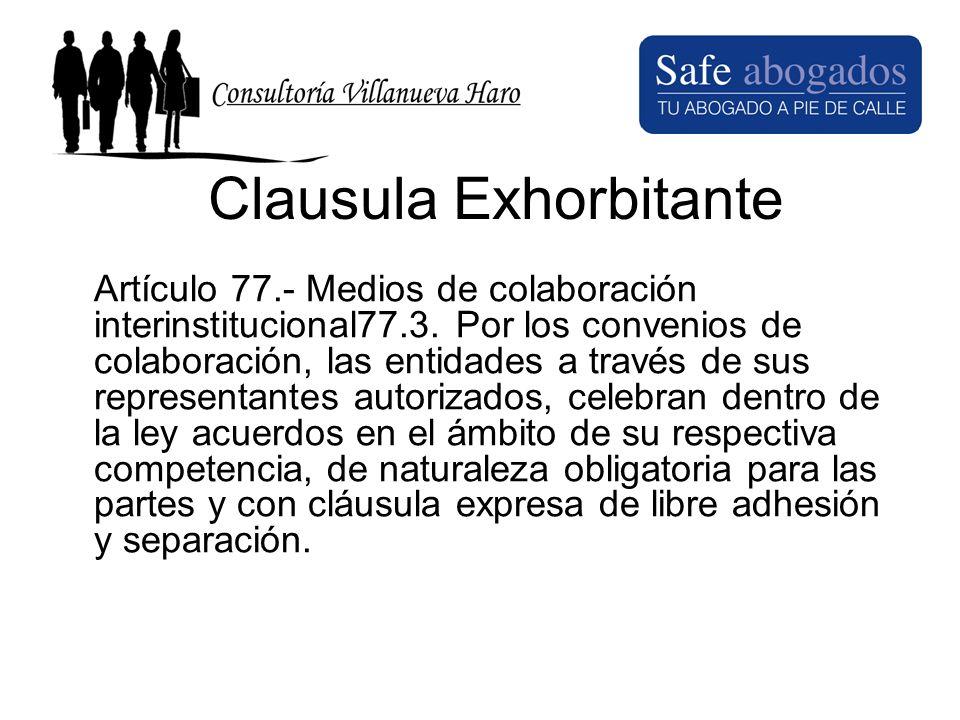 Clausula Exhorbitante