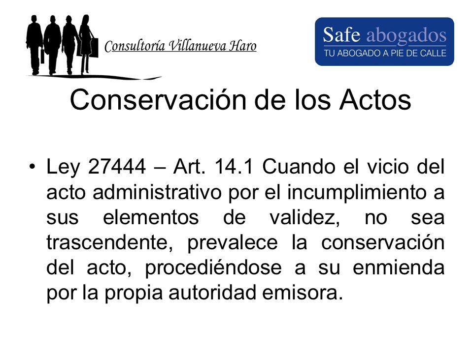 Conservación de los Actos