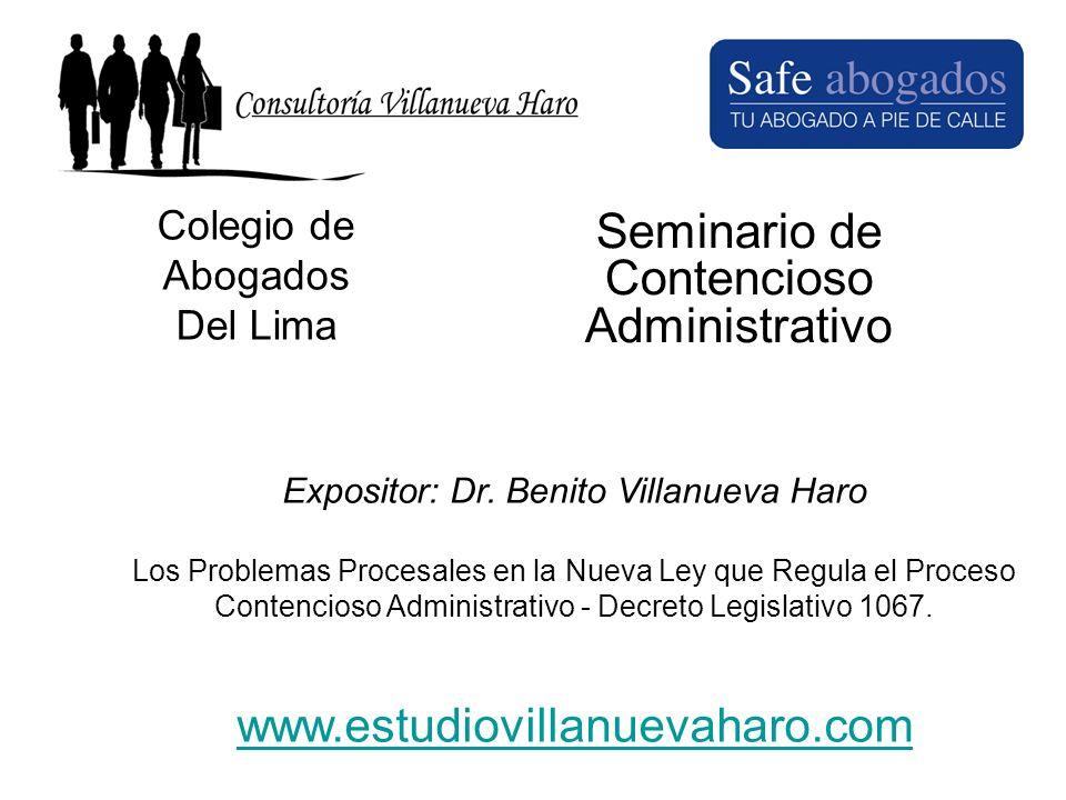 Seminario de Contencioso Administrativo