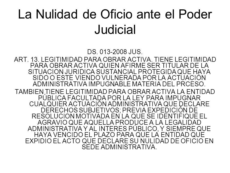 La Nulidad de Oficio ante el Poder Judicial