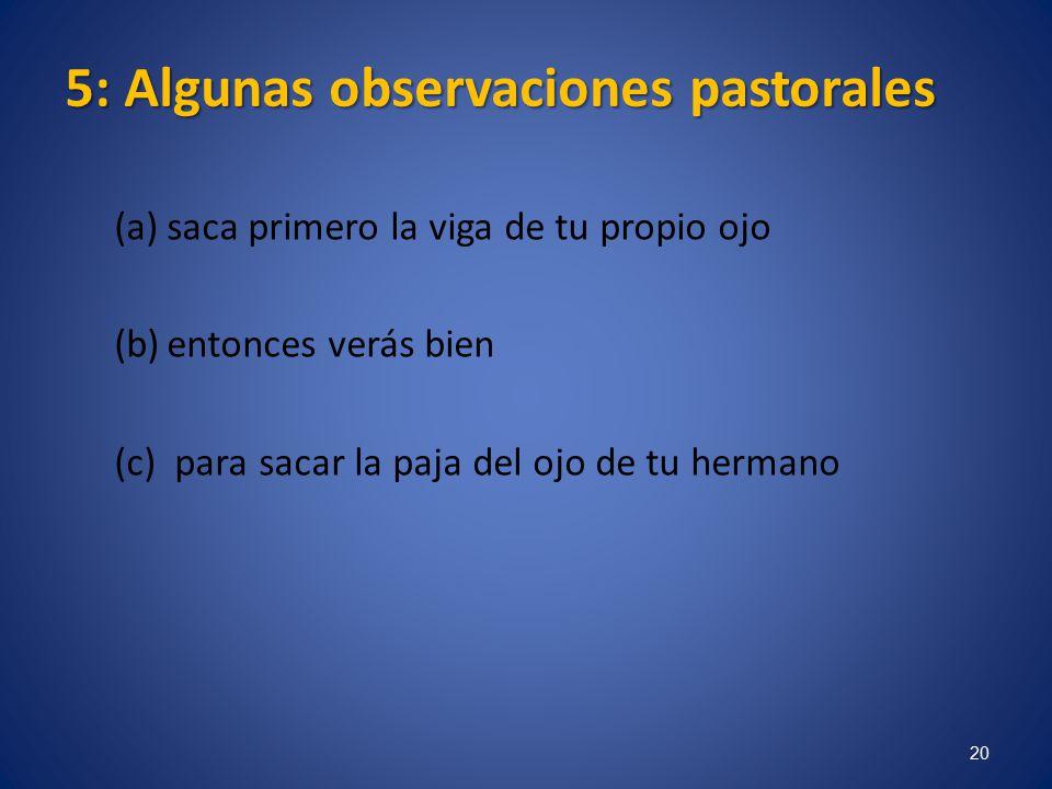 5: Algunas observaciones pastorales