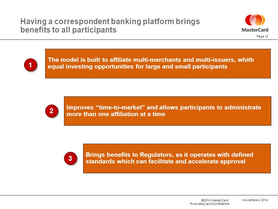 Having a correspondent banking platform brings benefits to all participants