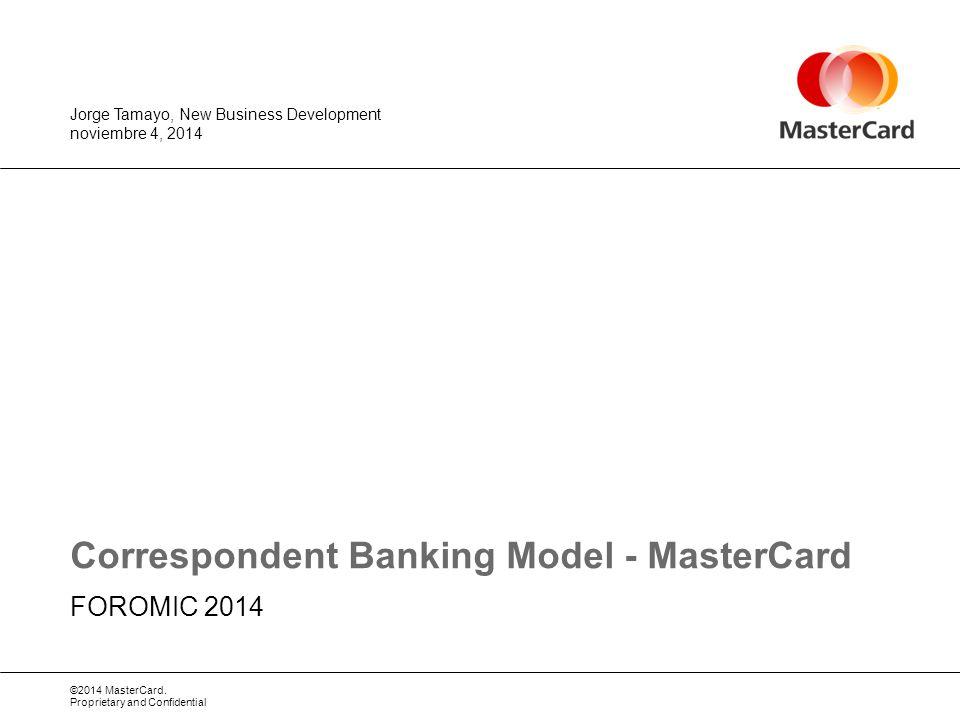 Correspondent Banking Model - MasterCard