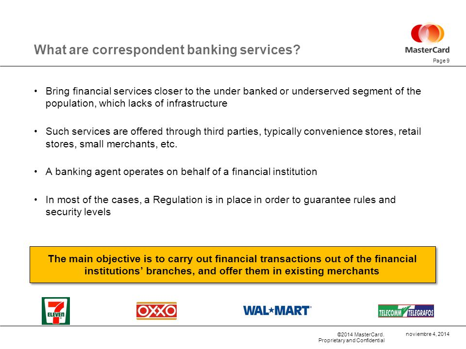 What are correspondent banking services