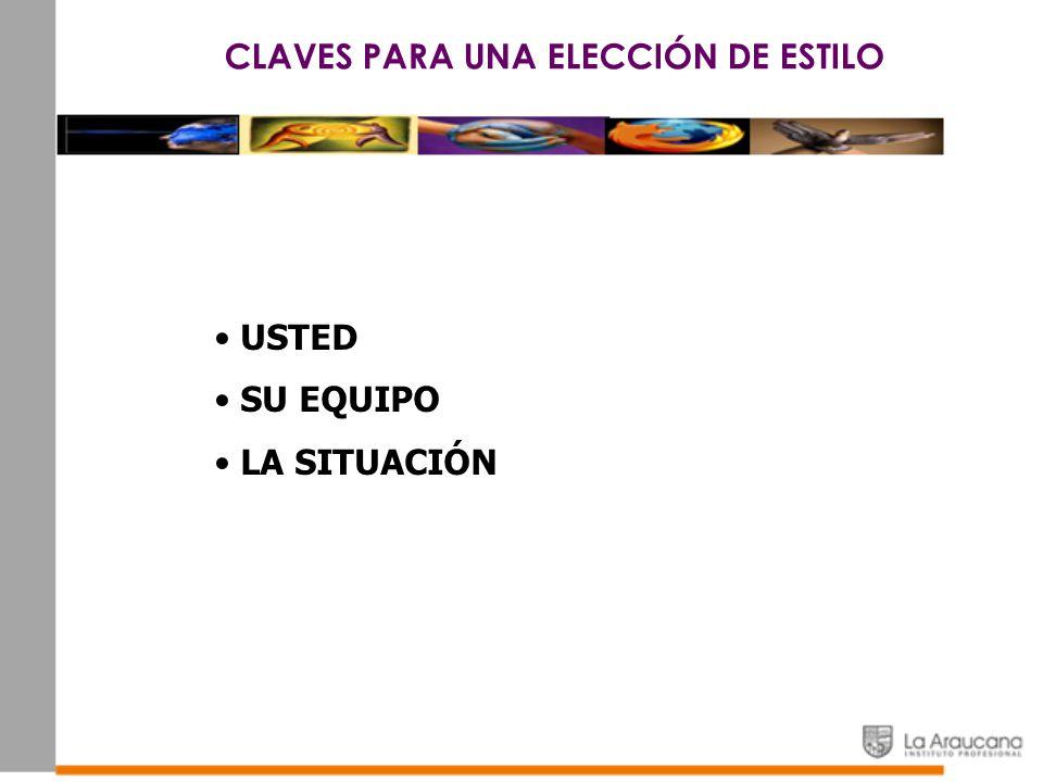 CLAVES PARA UNA ELECCIÓN DE ESTILO