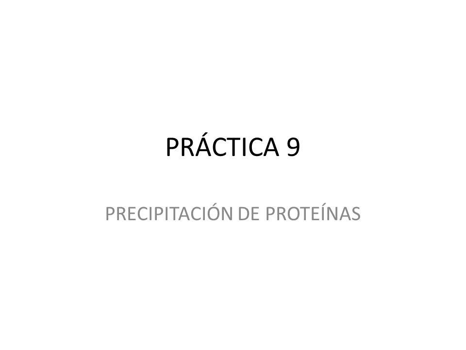 PRECIPITACIÓN DE PROTEÍNAS