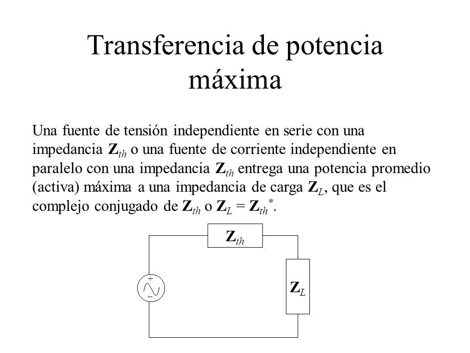 Transferencia de potencia máxima
