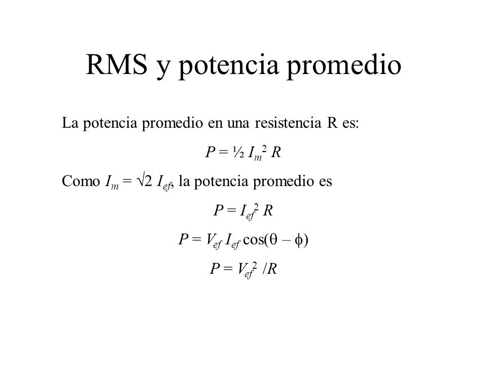 RMS y potencia promedio