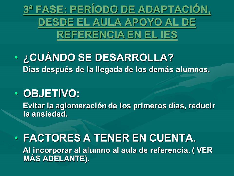 FACTORES A TENER EN CUENTA.
