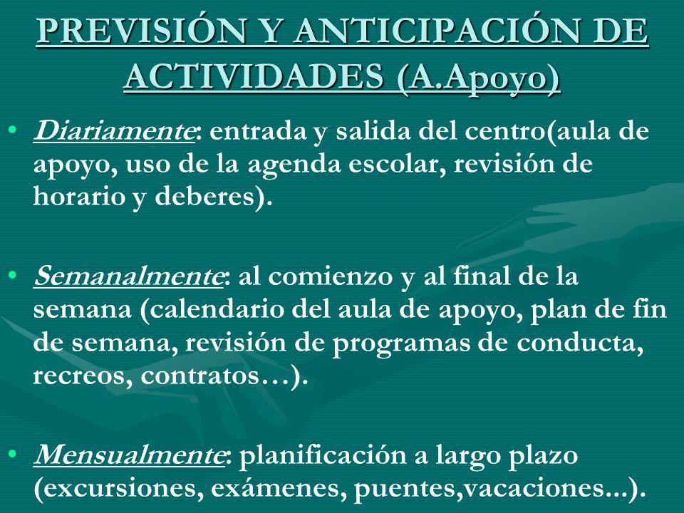 PREVISIÓN Y ANTICIPACIÓN DE ACTIVIDADES (A.Apoyo)