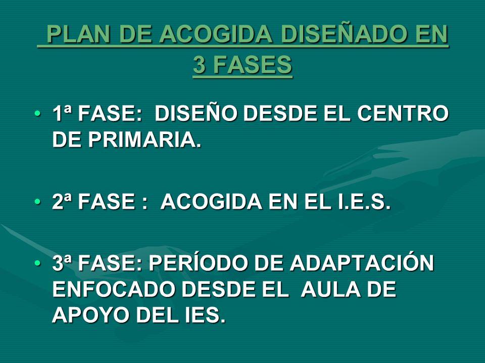 PLAN DE ACOGIDA DISEÑADO EN 3 FASES