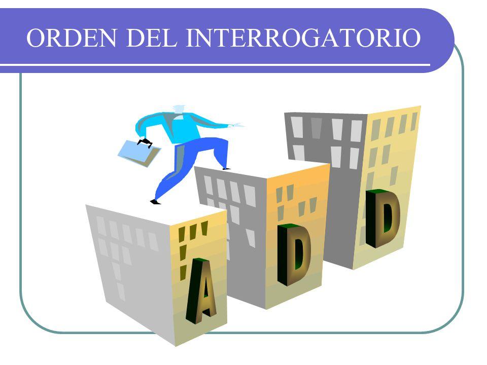 ORDEN DEL INTERROGATORIO