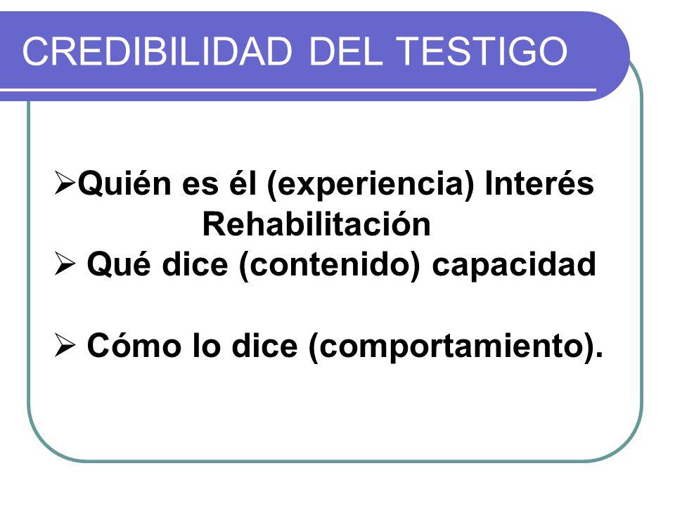 CREDIBILIDAD DEL TESTIGO