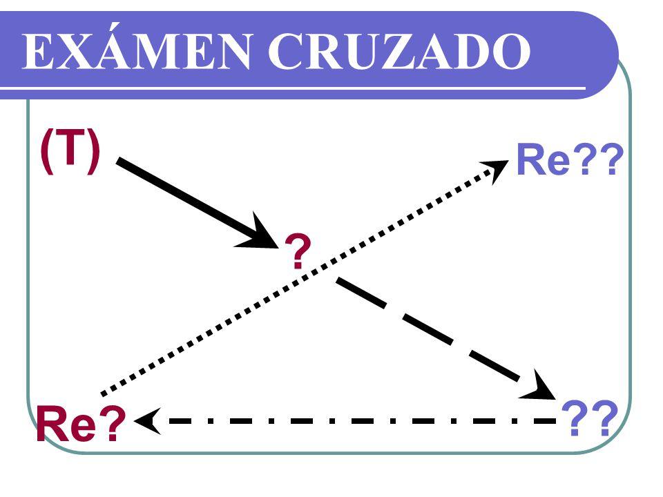 EXÁMEN CRUZADO (T) Re Re
