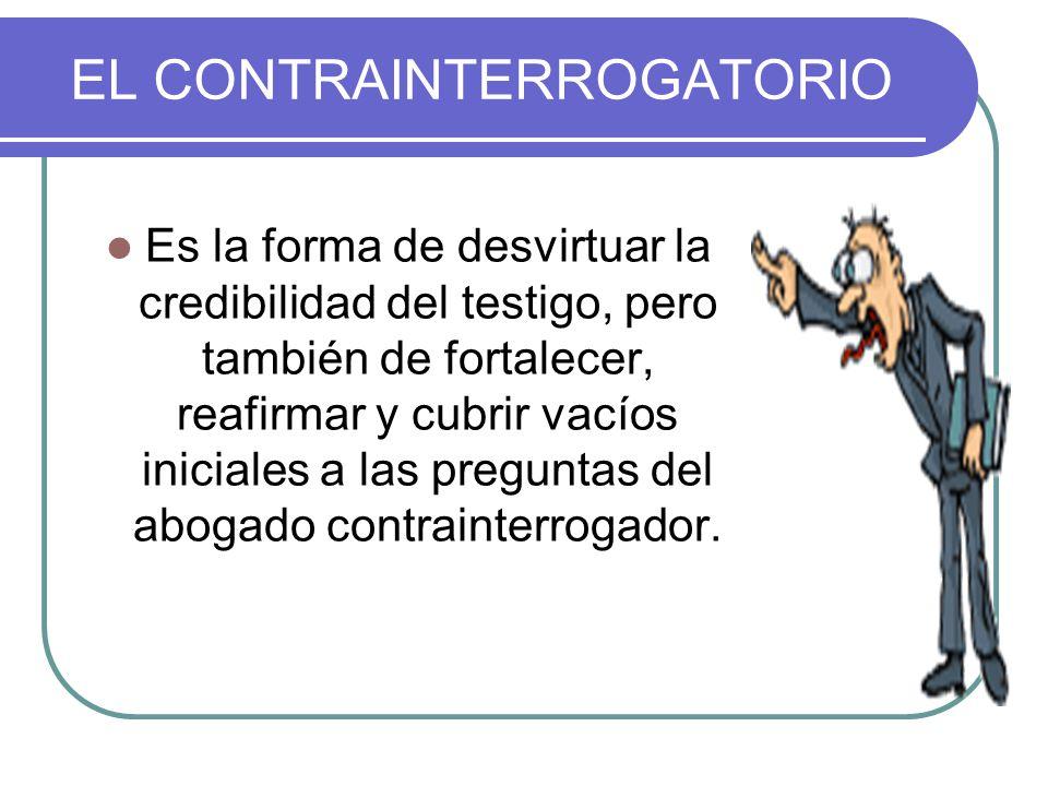 EL CONTRAINTERROGATORIO