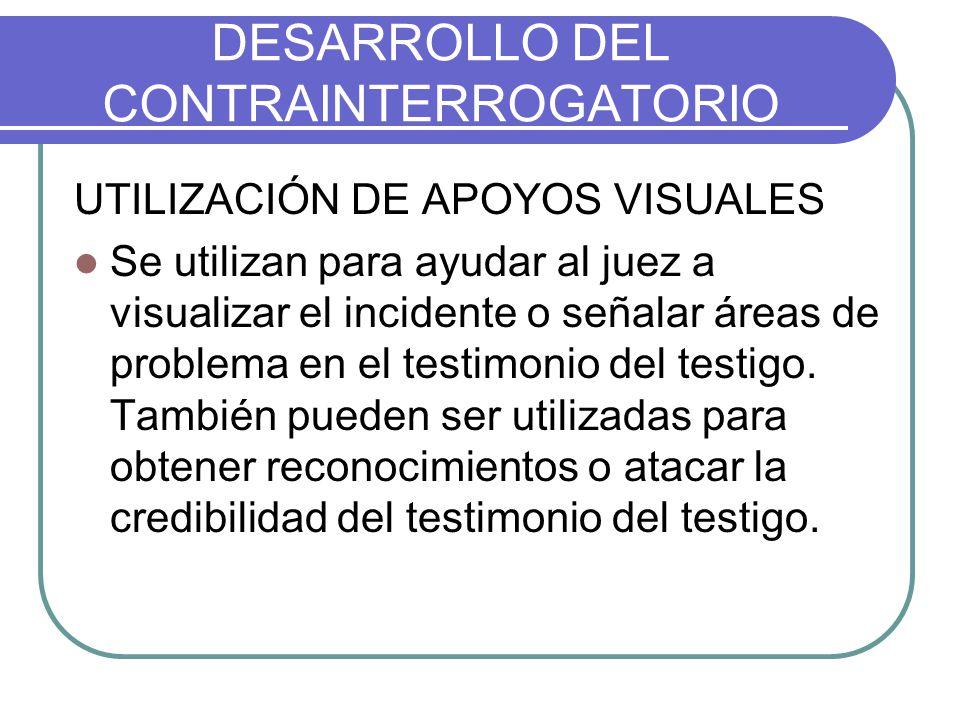 DESARROLLO DEL CONTRAINTERROGATORIO