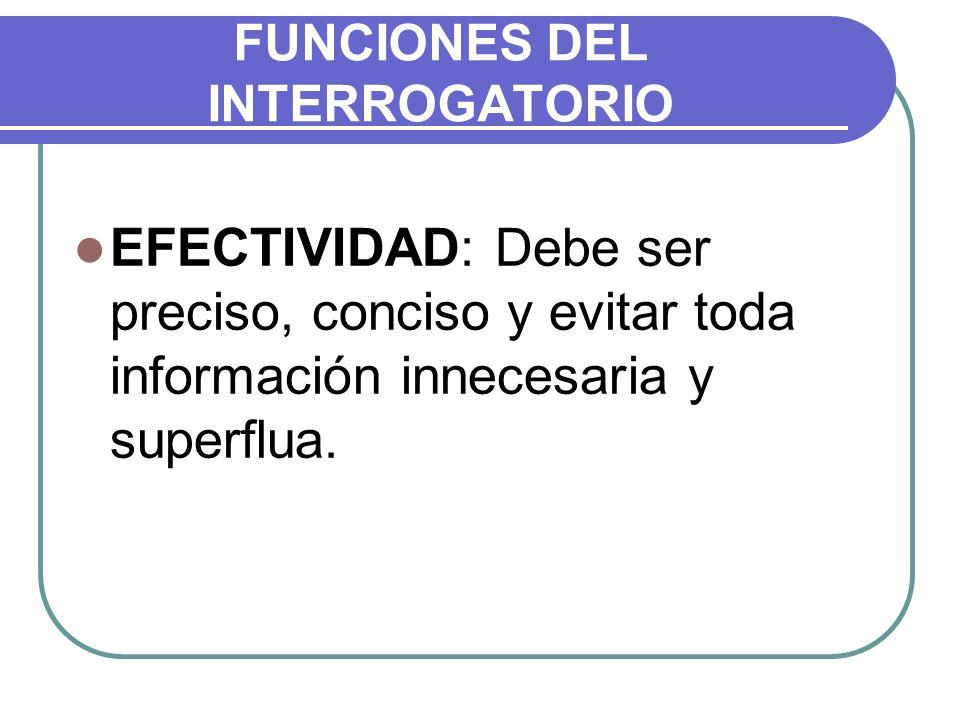 FUNCIONES DEL INTERROGATORIO