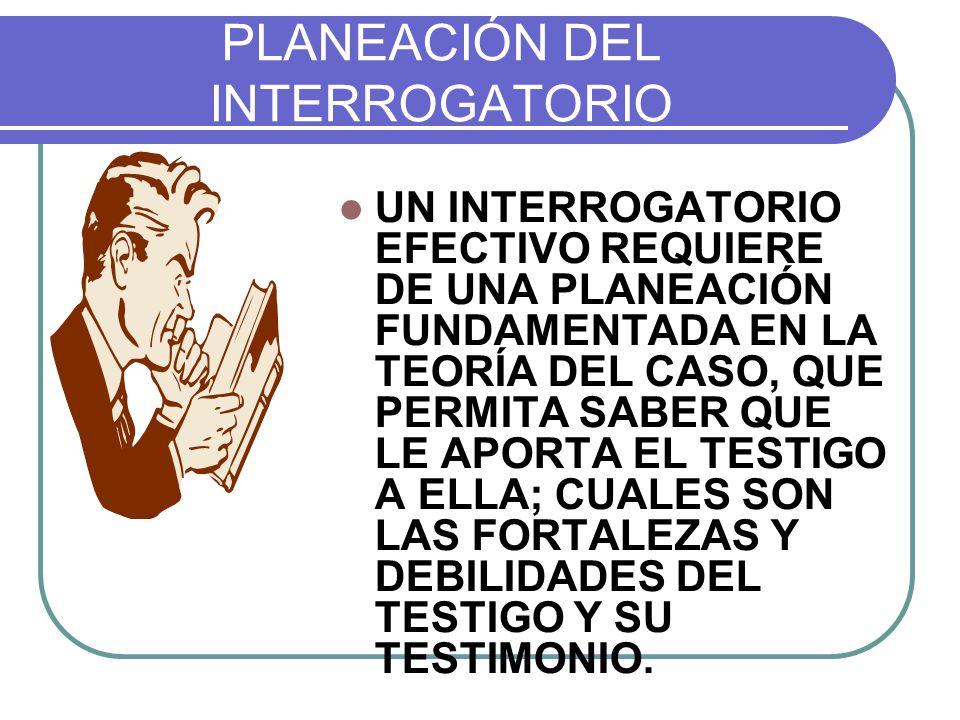PLANEACIÓN DEL INTERROGATORIO