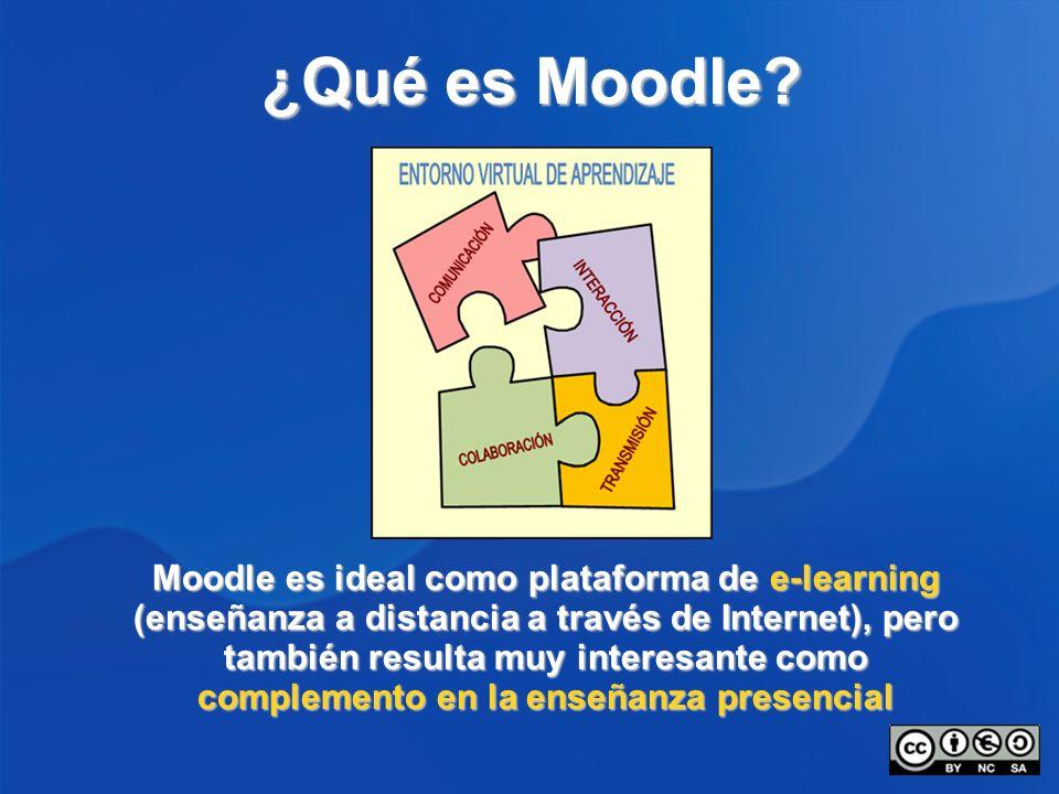 ¿Qué es Moodle