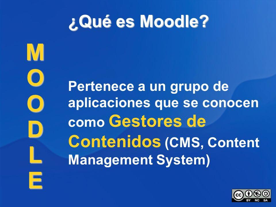 ¿Qué es Moodle. M. O. D. L. E.