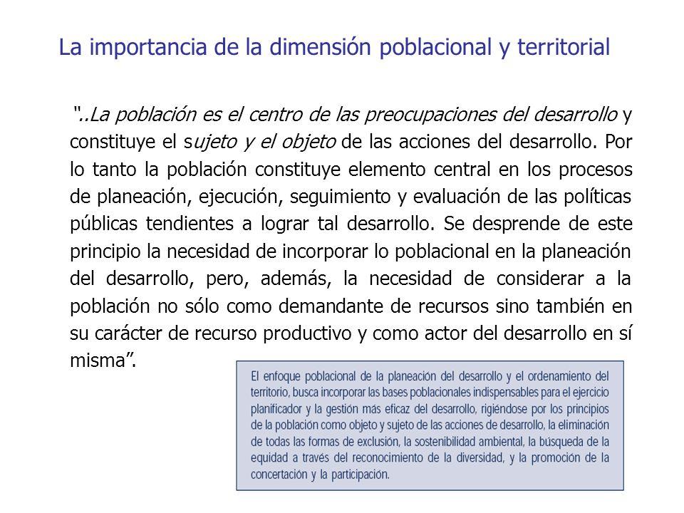 La importancia de la dimensión poblacional y territorial