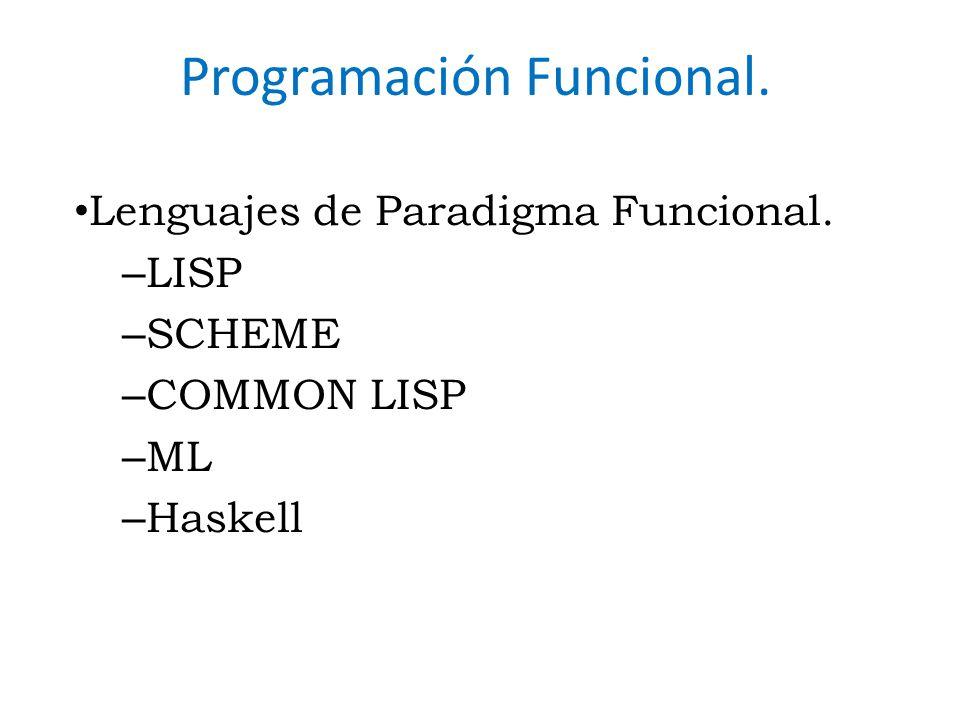 Programación Funcional.