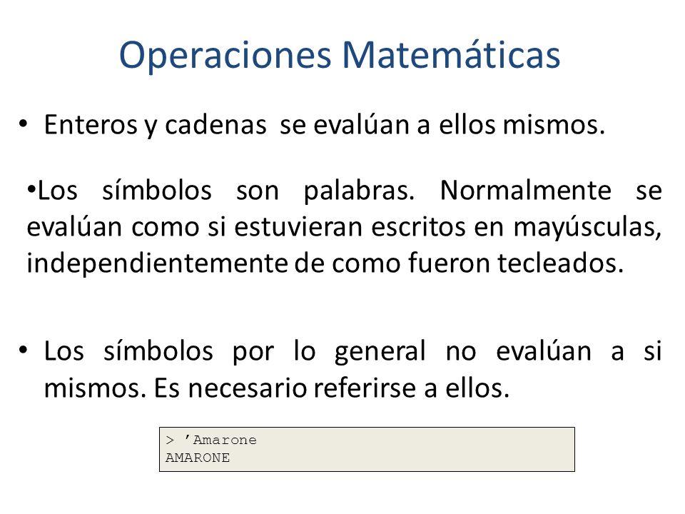 Operaciones Matemáticas